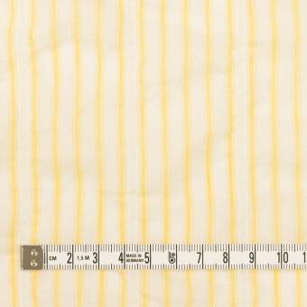 コットン&ポリウレタン×ストライプ(イエロー)×ボイルシャーリング_全2色 サムネイル4
