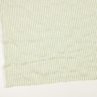 コットン&ポリウレタン×ストライプ(グリーン)×ボイルシャーリング_全2色 サムネイル2