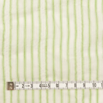 コットン&ポリウレタン×ストライプ(グリーン)×ボイルシャーリング_全2色 サムネイル4