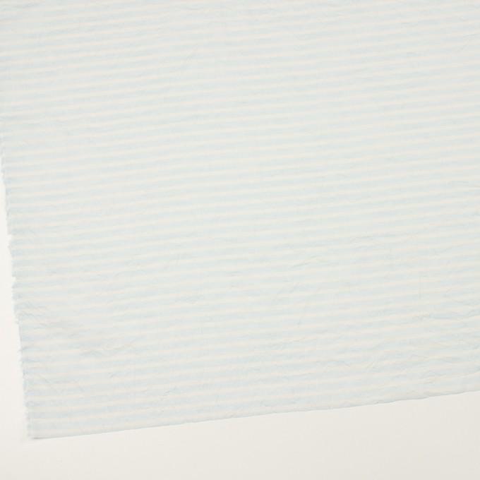 コットン×ボーダー(サックス)×ボイルワッシャー イメージ2