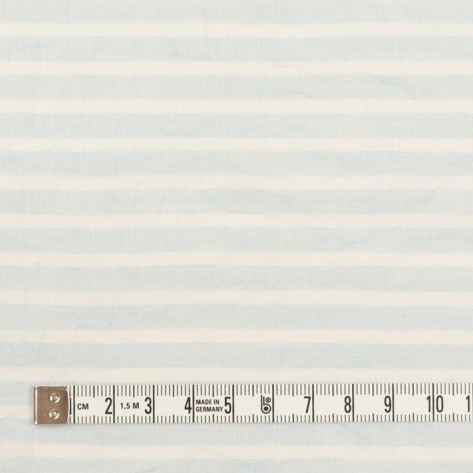 コットン×ボーダー(サックス)×ボイルワッシャー イメージ4