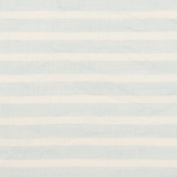 コットン×ボーダー(サックス)×ボイルワッシャー イメージ1