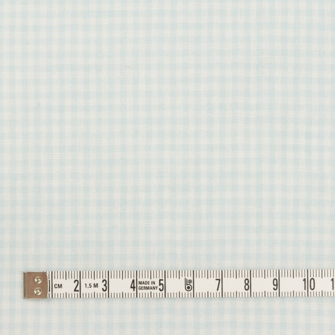 コットン×チェック(サックス)×Wガーゼ イメージ4