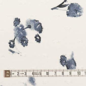 コットン×フラワー(ブルーグレー)×ボイルカットジャガード_全2色 サムネイル4