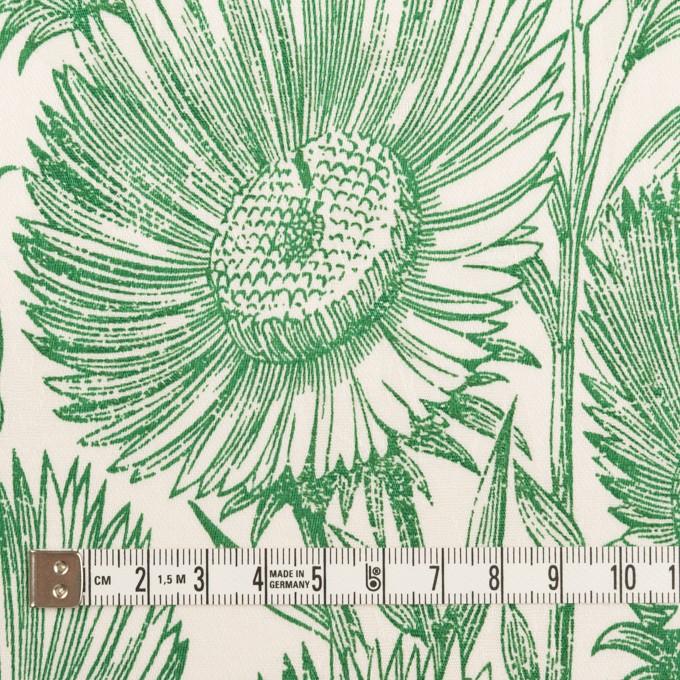 コットン&ポリウレタン×フラワー(ミルク&グリーン)×ジャガード・ストレッチ イメージ4