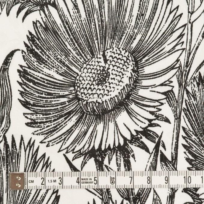 コットン&ポリウレタン×フラワー(ブラック)×ジャガード・ストレッチ イメージ4