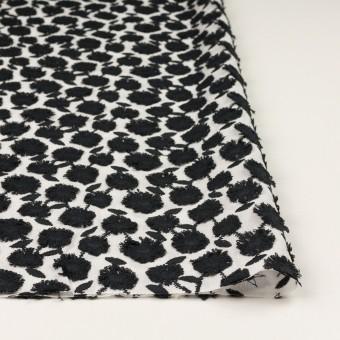 コットン×フラワー(ブラック&ホワイト)×ボイル刺繍 サムネイル3
