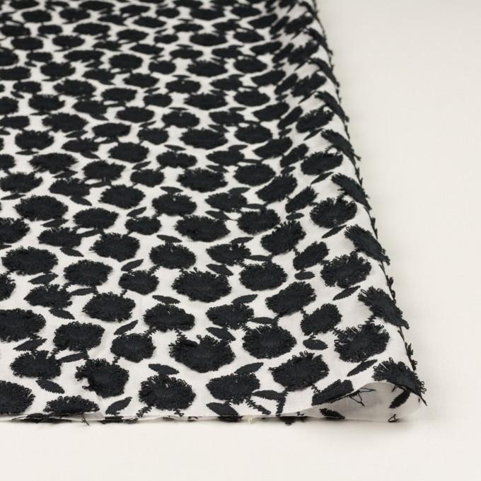 コットン×フラワー(ブラック&ホワイト)×ボイル刺繍 イメージ3
