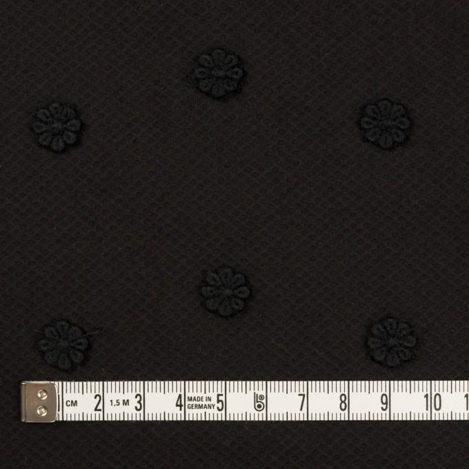 コットン×フラワー(ブラック)×アートピケ・モチーフレース イメージ4