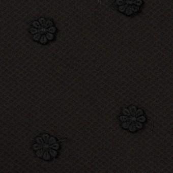 コットン×フラワー(ブラック)×アートピケ・モチーフレース