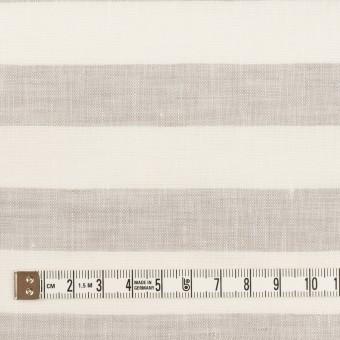 リネン×ボーダー(パールグレー)×薄キャンバス サムネイル4