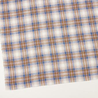 コットン&リネン×チェック(モカ&ブルー)×サージ_全2色 サムネイル2