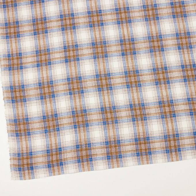 コットン&リネン×チェック(モカ&ブルー)×サージ_全2色 イメージ2