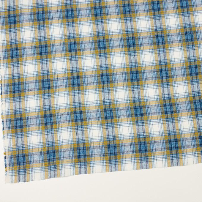 コットン&リネン×チェック(ブルー&マスタード)×サージ_全2色 イメージ2