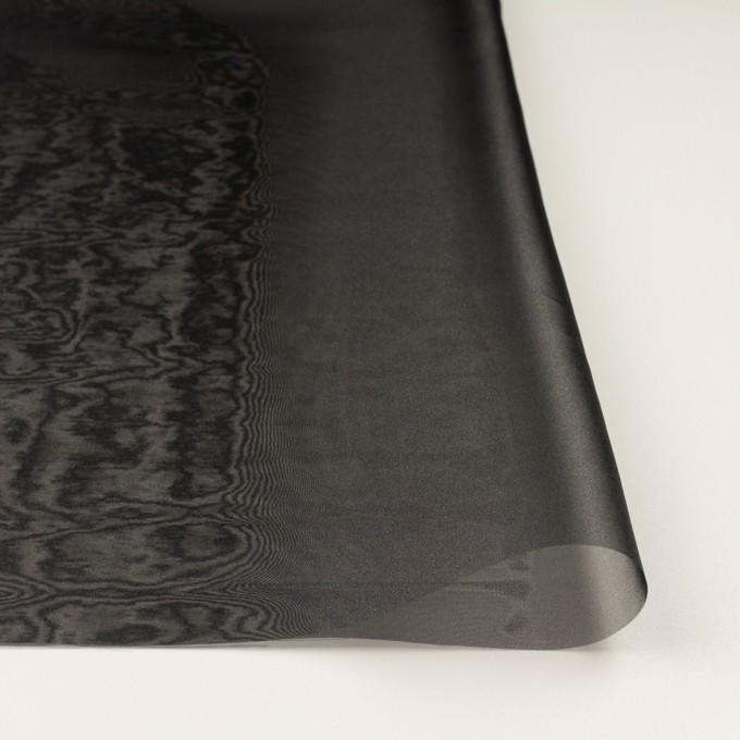 ポリエステル×無地(ブラック)×オーガンジー_全4色 イメージ3