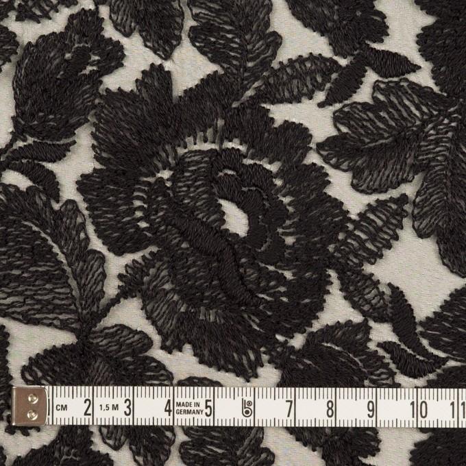 ナイロン×フラワー(ブラック)×オーガンジー刺繍_全2色 イメージ4