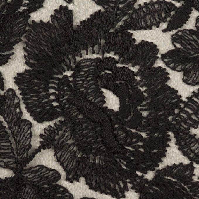 ナイロン×フラワー(ブラック)×オーガンジー刺繍_全2色 イメージ1