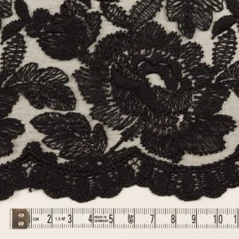 ナイロン×フラワー(ブラック)×オーガンジー刺繍_全2色 サムネイル6