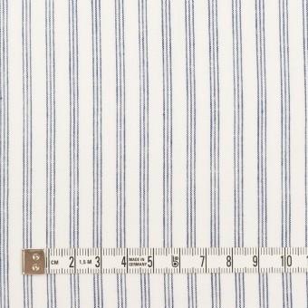 コットン&リネン×ストライプ(ブルー)×ブロード サムネイル4
