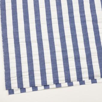 コットン×ストライプ(アッシュブルー&ホワイト)×ポプリン&サッカー_全4色 サムネイル2