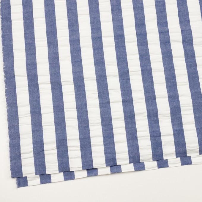 コットン×ストライプ(アッシュブルー&ホワイト)×ポプリン&サッカー_全4色 イメージ2