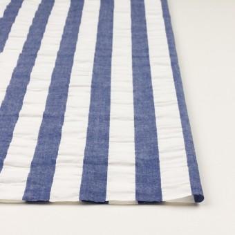 コットン×ストライプ(アッシュブルー&ホワイト)×ポプリン&サッカー_全4色 サムネイル3