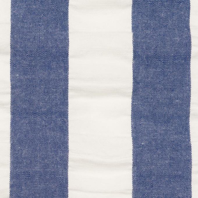 コットン×ストライプ(アッシュブルー&ホワイト)×ポプリン&サッカー_全4色 イメージ1