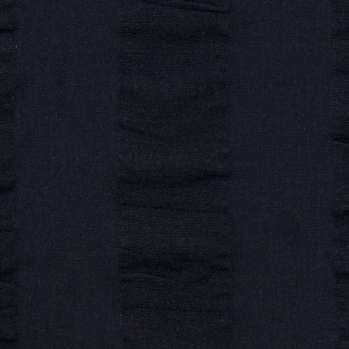 コットン×ストライプ(ダークネイビー)×ポプリン&サッカー_全4色 イメージ1