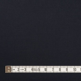 コットン&リネン混×無地(ダークネイビー)×サテンストレッチ_全4色 サムネイル4