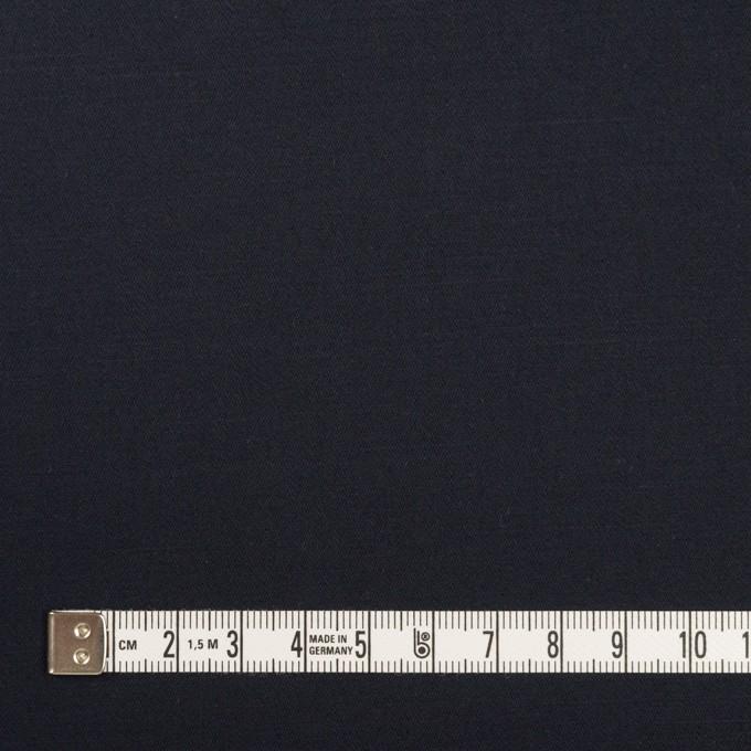 コットン&リネン混×無地(ダークネイビー)×サテンストレッチ_全4色 イメージ4