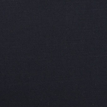 コットン&リネン混×無地(ダークネイビー)×サテンストレッチ_全4色