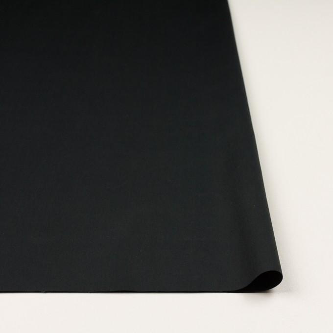 コットン&リネン混×無地(チャコールブラック)×サテンストレッチ_全4色 イメージ3