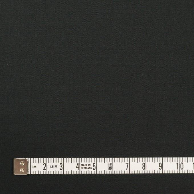 コットン&リネン混×無地(チャコールブラック)×サテンストレッチ_全4色 イメージ4