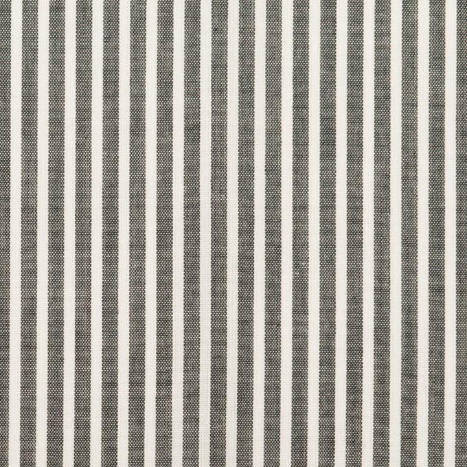 コットン×ストライプ(チャコールグレー)×ローン_全2色 イメージ1