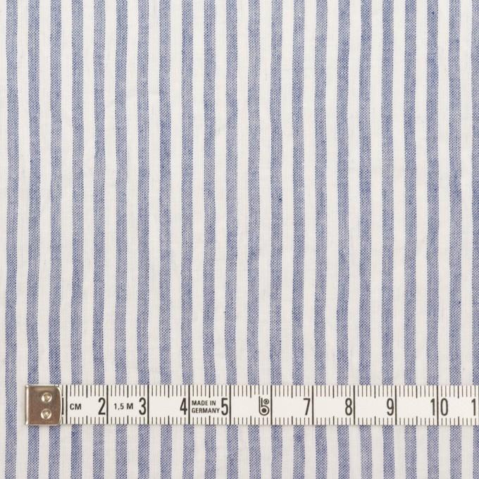 コットン×ストライプ(ブルー)×ボイルワッシャー イメージ4