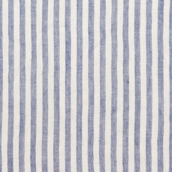 コットン×ストライプ(ブルー)×ボイルワッシャー イメージ1