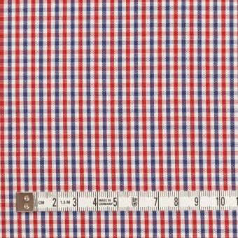 コットン×チェック(レッド&ネイビー)×オックスフォード_全3色 サムネイル4