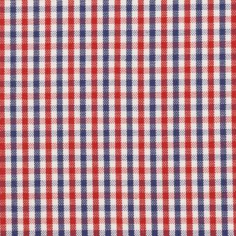 コットン×チェック(レッド&ネイビー)×オックスフォード_全3色