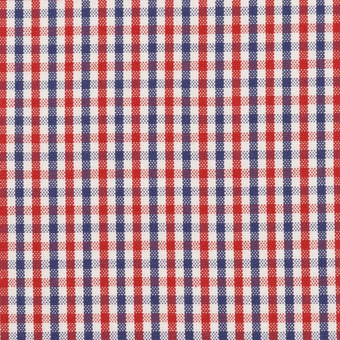 コットン×チェック(レッド&ネイビー)×オックスフォード_全3色 イメージ1