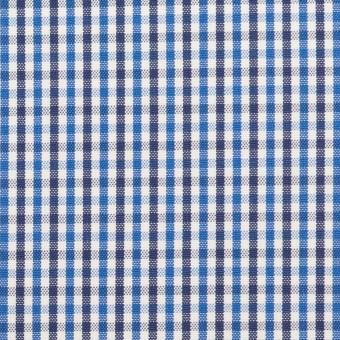 コットン×チェック(ブルー&ネイビー)×オックスフォード_全3色
