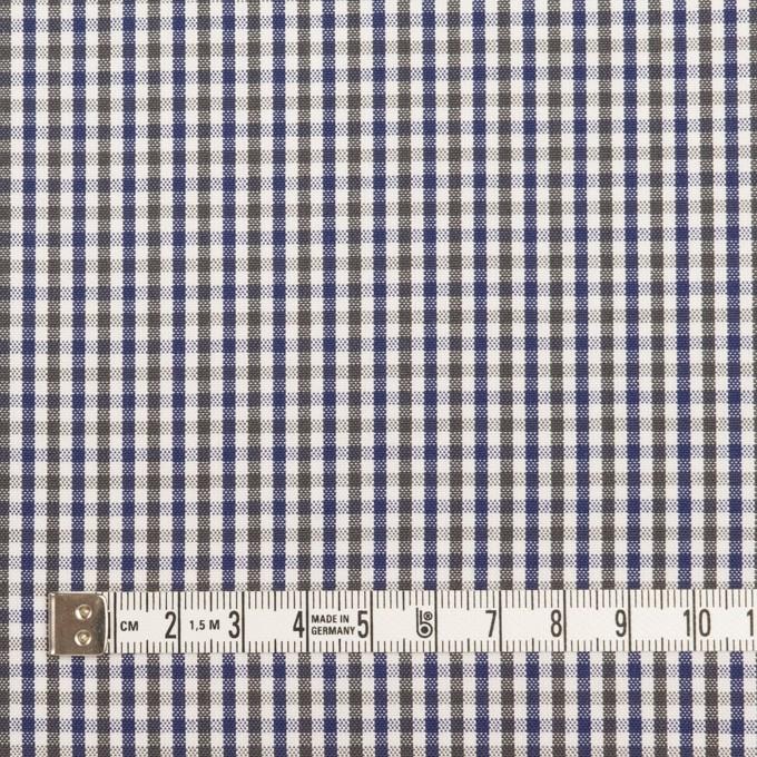コットン×チェック(カーキグリーン&ネイビー)×オックスフォード_全3色 イメージ4