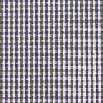 コットン×チェック(カーキグリーン&ネイビー)×オックスフォード_全3色