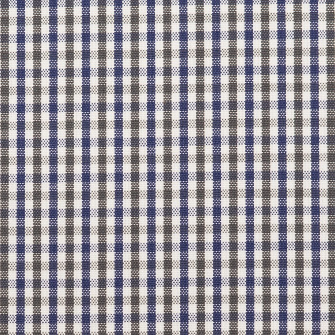 コットン×チェック(カーキグリーン&ネイビー)×オックスフォード_全3色 イメージ1