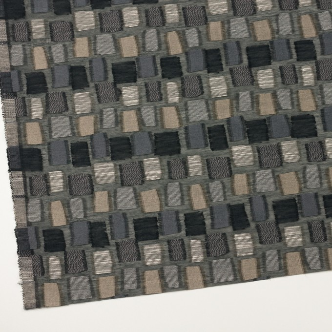 コットン&ナイロン混×幾何学模様(ブラック&ゴールド)×オーガンジー・ジャガード イメージ2