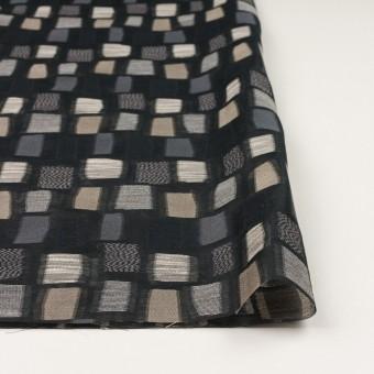 コットン&ナイロン混×幾何学模様(ブラック&ゴールド)×オーガンジー・ジャガード サムネイル3