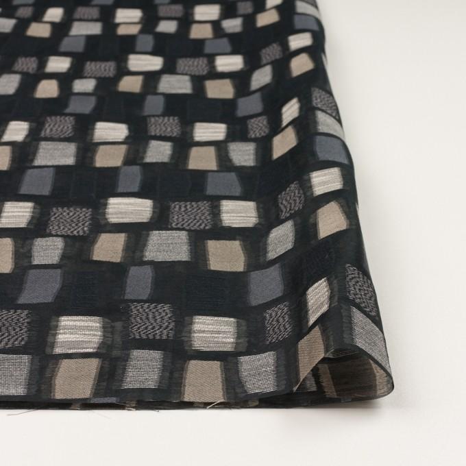 コットン&ナイロン混×幾何学模様(ブラック&ゴールド)×オーガンジー・ジャガード イメージ3