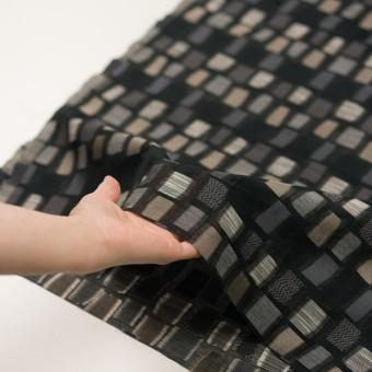 コットン&ナイロン混×幾何学模様(ブラック&ゴールド)×オーガンジー・ジャガード サムネイル5