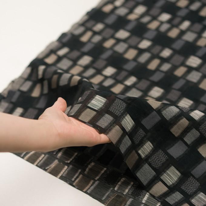 コットン&ナイロン混×幾何学模様(ブラック&ゴールド)×オーガンジー・ジャガード イメージ5