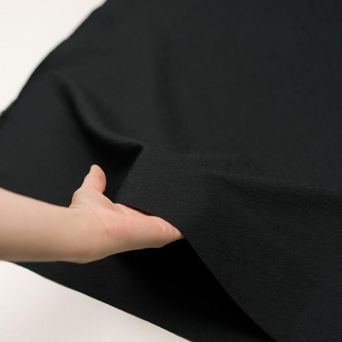 ポリエステル&ナイロン×無地(ブラック)×ジャガード イメージ5