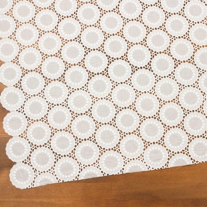 コットン×フラワー(オフホワイト)×ローン刺繍 イメージ2